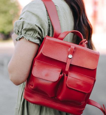 """Кожаный рюкзак Level """"Бейби Боббер"""" 13767 - фото 1"""