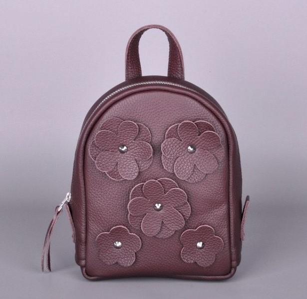 Кожаный рюкзак JIZUZ BABY SPORT FLOWERS 9146 - фото 1