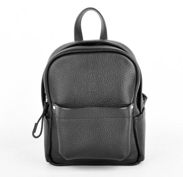 Кожаный рюкзак JIZUZ Carbon mini черный 10221 - фото 1