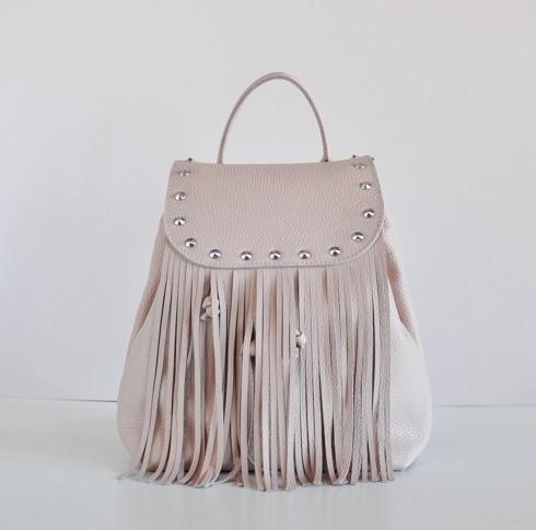 Кожаный рюкзак JIZUZ ETHNIC NUDE 11566 - фото 1