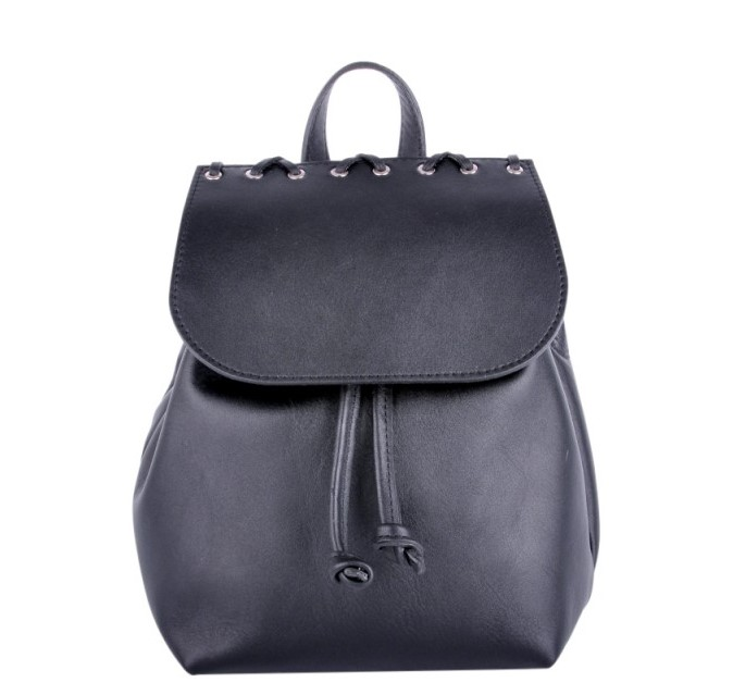Кожаный рюкзак JIZUZ FEON BLACK 10220 - фото 1