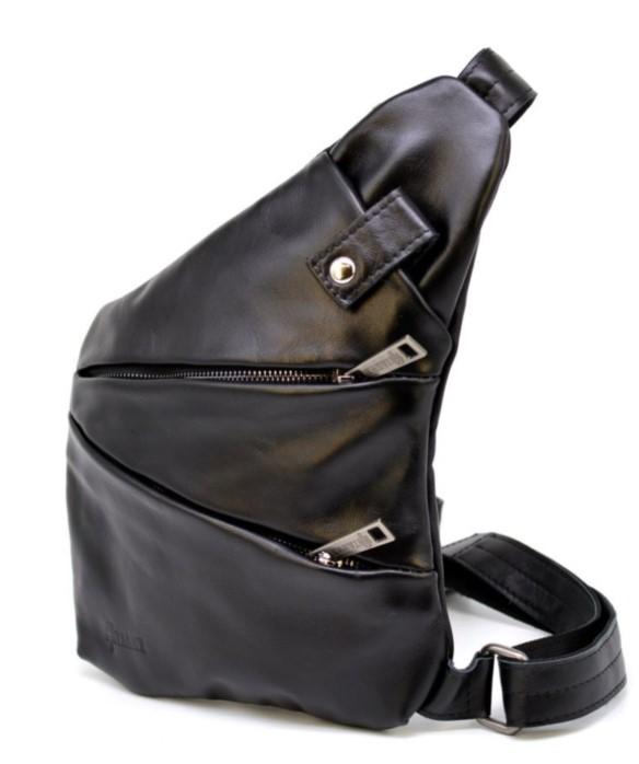 Кожаный рюкзак на одно плечо TARWA 19373 - фото 1