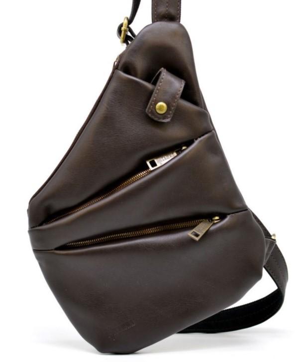Кожаный рюкзак на одно плечо TARWA 19374 - фото 1