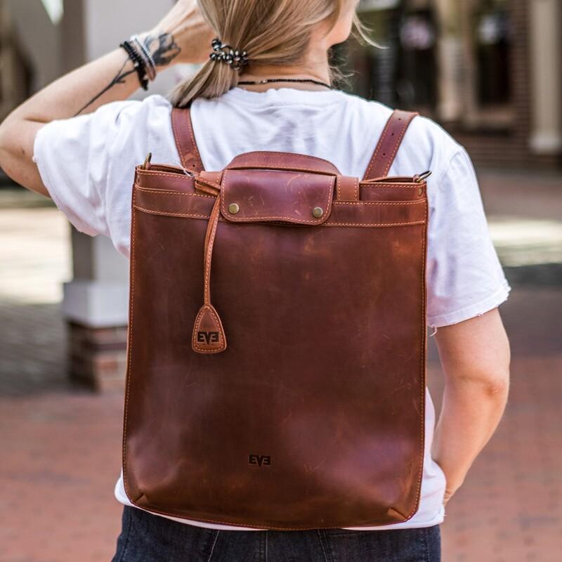 """Кожаная сумка-рюкзак Level """"Черепаха"""" 13750 - фото 1"""