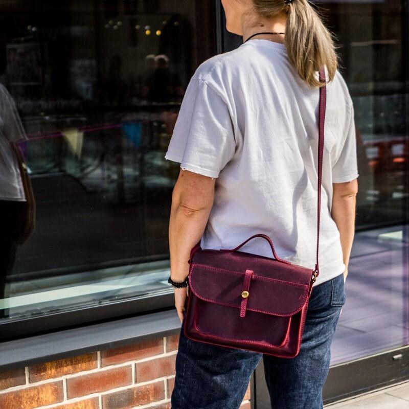 Кожаная сумка Level Фейк 10409 - фото 1