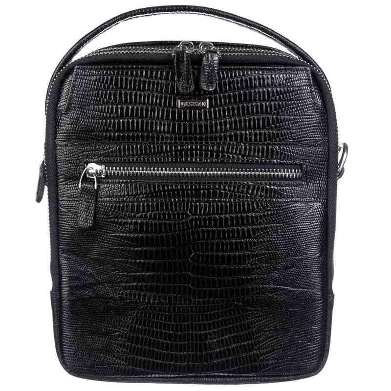 Мужская кожаная сумка DESISAN 19004 - фото 1