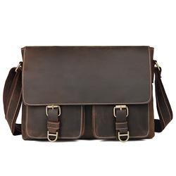 Кожаный винтажный портфель Buffalo Bags