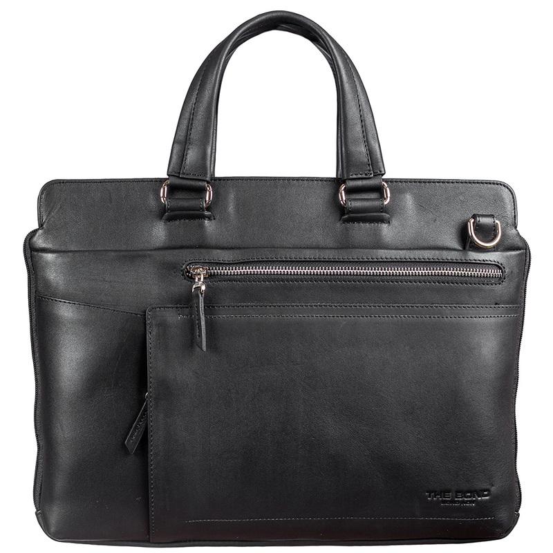 Мужской кожаный портфель BOND 17366 - фото 1