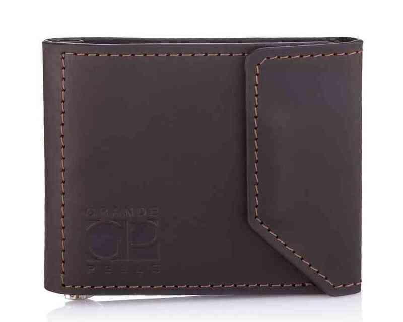 Мужской кожаный зажим для денег на магните Grande Pelle 18606 - фото 1