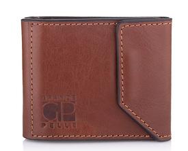 Мужской кожаный зажим для денег на магните Grande Pelle id