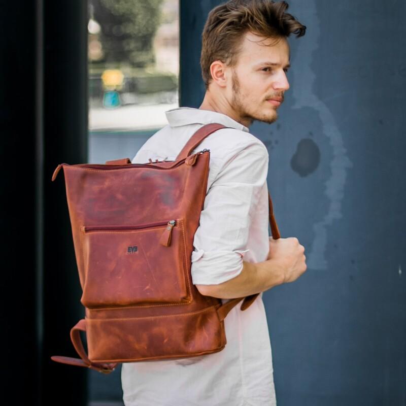 """Кожаный рюкзак Level """"Кадр"""" 10511 - фото 1"""