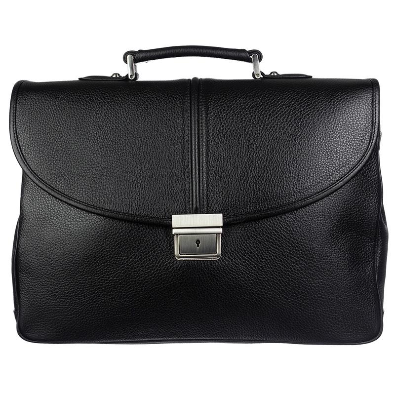 Мужской кожаный портфель Desisan 18990 - фото 1