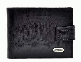 Кожаный мужской кошелек Canpellini id