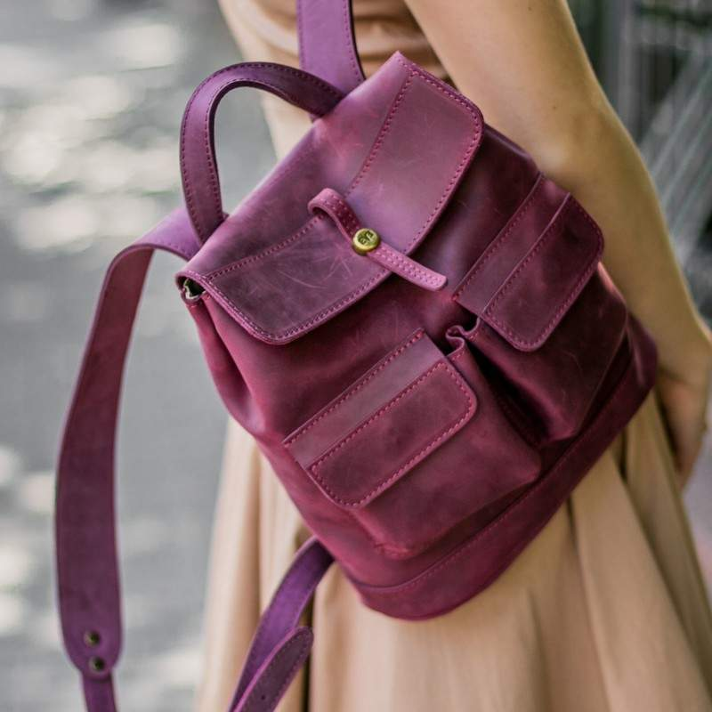 """Кожаный рюкзак Level """"Бейби Боббер"""" 11812 - фото 1"""