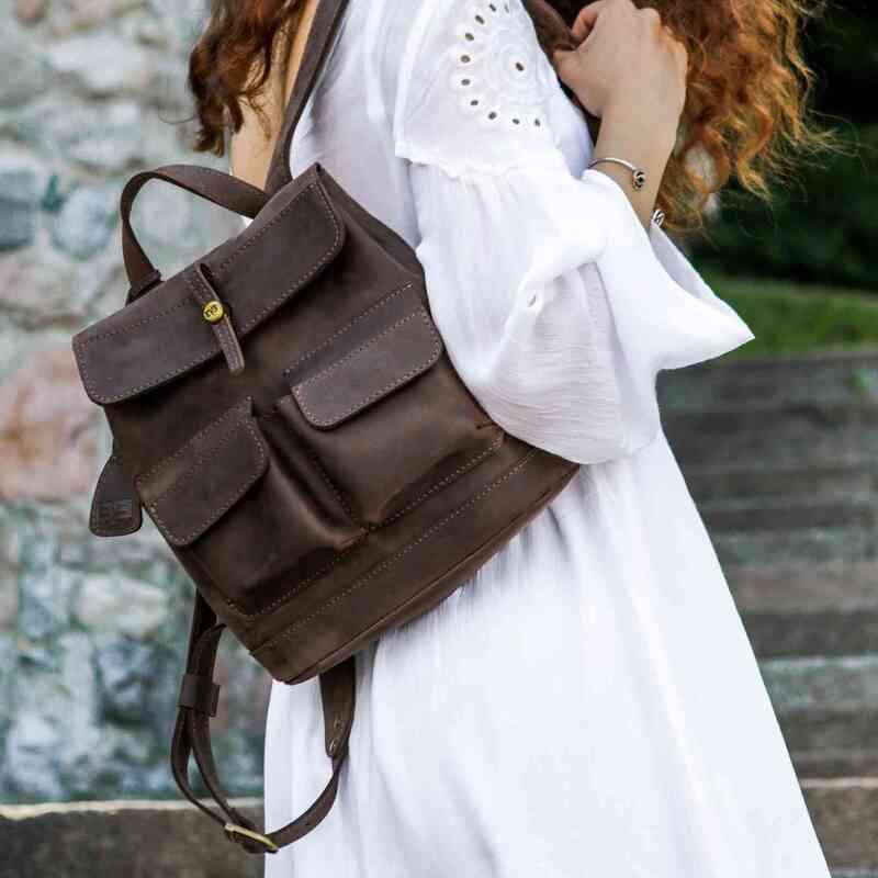 """Кожаный рюкзак Level """"Бейби Боббер"""" 11813 - фото 1"""