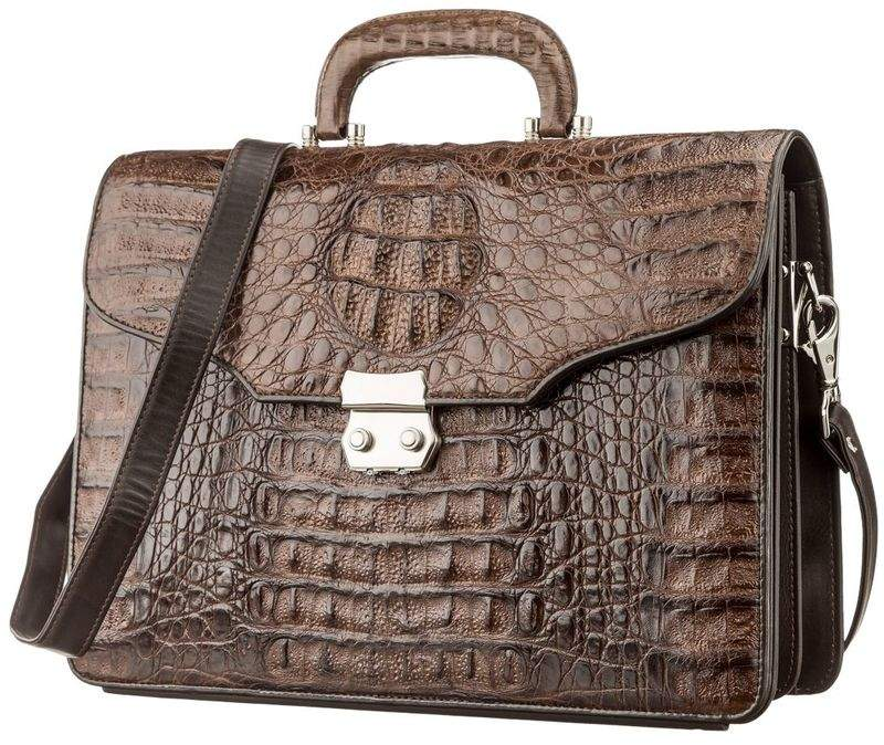 Портфель CROCODILE LEATHER из кожи крокодила 14162 - фото 1