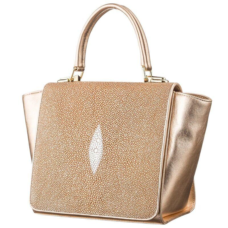 Женская сумка STINGRAY LEATHER из кожи ската 14085 - фото 1