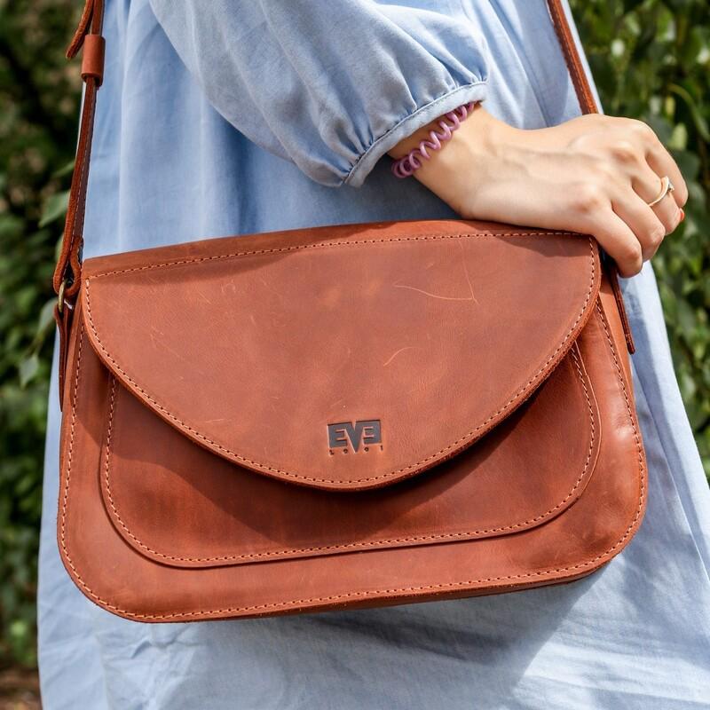 Кожаная сумка Level Долька 10439 - фото 1