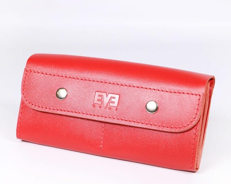 Женский кожаный кошелек Двойной Level 13802 - фото 1