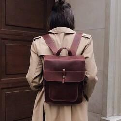 """Кожаный рюкзак Level """"Школьник"""""""