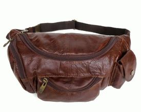 Мужская кожаная сумка на пояс 2068 Buffalo Bags