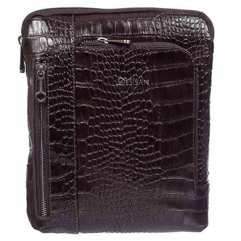 Мужская кожаная сумка DESISAN 17675 - фото 1