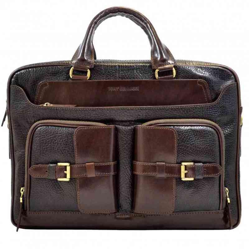 Мужской кожаный портфель Tony Bellucci (Турция) 13246 - фото 1