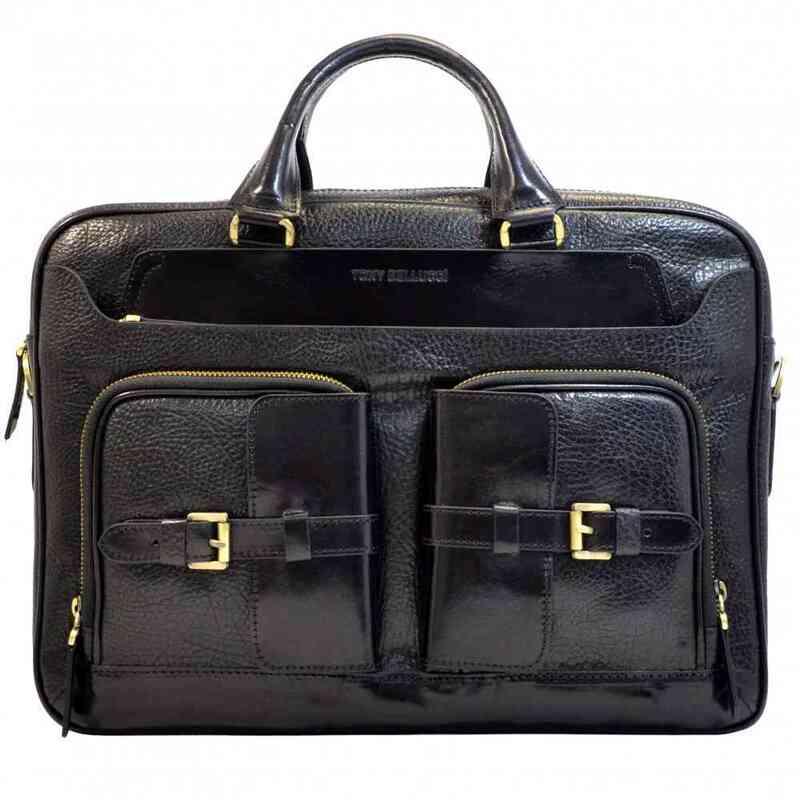 Мужской кожаный портфель Tony Bellucci (Италия) 13247 - фото 1