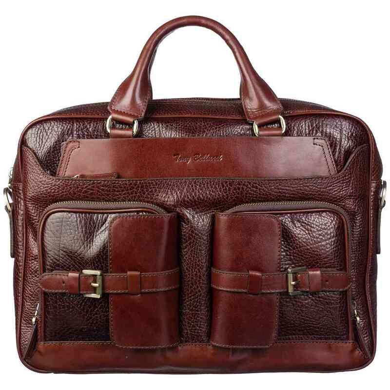 Мужской кожаный портфель Tony Bellucci (Италия) 19015 - фото 1
