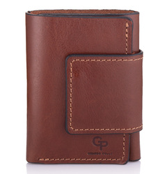 Женский кожаный кошелек на магните Grande Pelle id