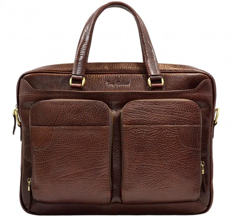 Мужской кожаный портфель Tony Bellucci (Италия) 13251 - фото 1