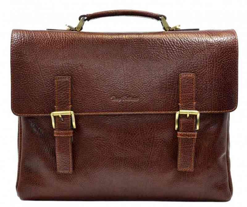 Мужской кожаный портфель Tony Bellucci (Италия) 13253 - фото 1