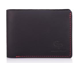 Кожаный мужской кошелек черный Grande Pelle id