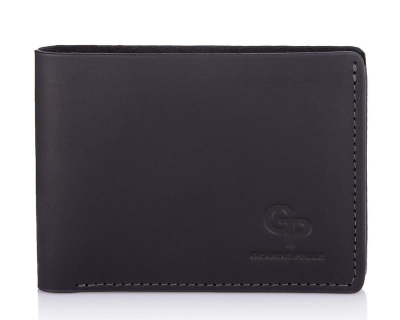 Кожаный мужской кошелек черный Grande Pelle 18601 - фото 1