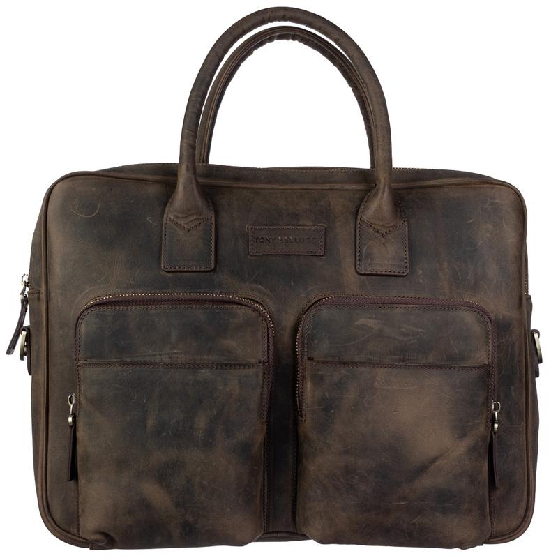 Мужской кожаный портфель Tony Bellucci (Италия) 19016 - фото 1