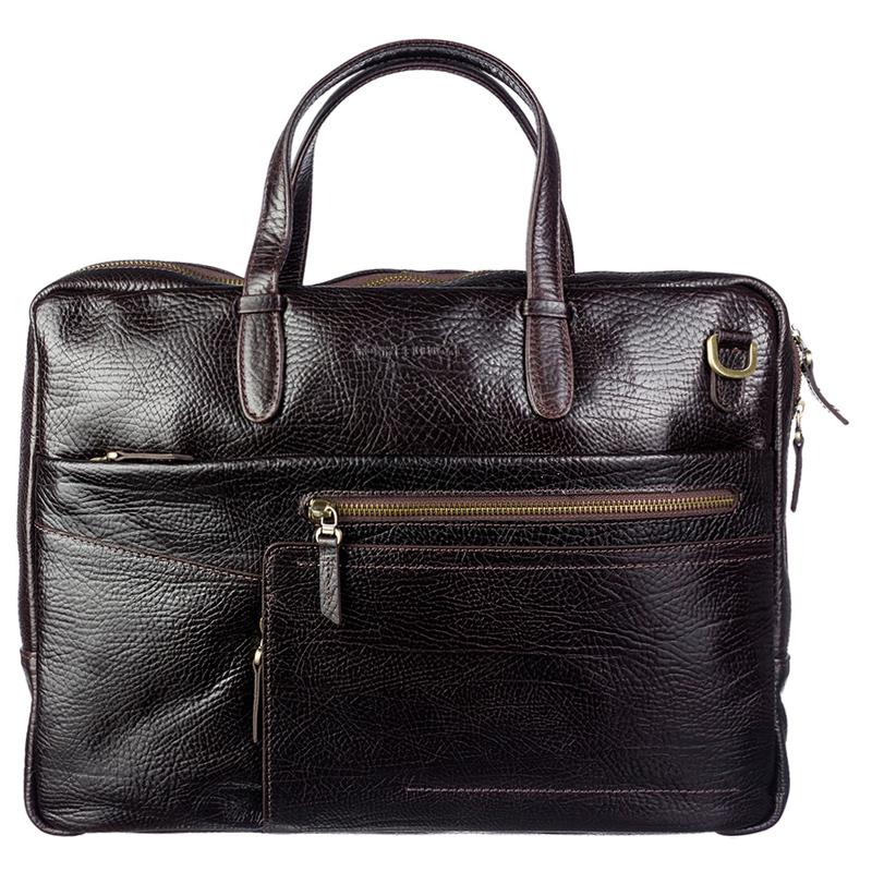 Мужской кожаный портфель Tony Bellucci (Италия) 19020 - фото 1