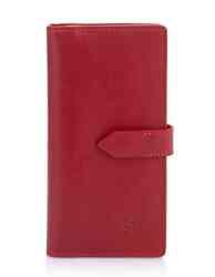 Кошелек кожаный с хлястиком на кнопке Grande Pelle id