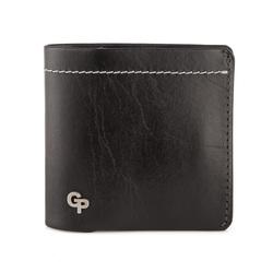 Кошелек мужской кожаный черный Grande Pelle id