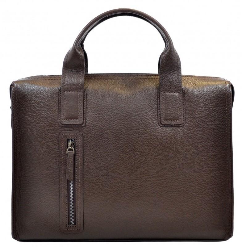 Мужской кожаный портфель Desisan 17653 - фото 1
