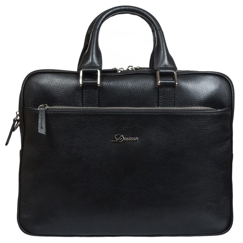 Мужской кожаный портфель Desisan 17657 - фото 1