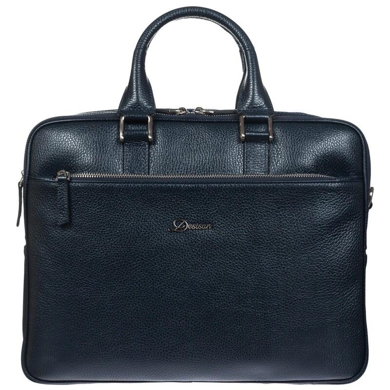 Мужской кожаный портфель Desisan 17659 - фото 1