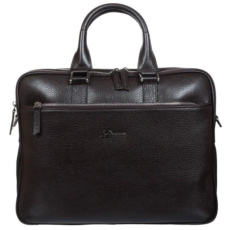 Мужской кожаный портфель Desisan 17658 - фото 1