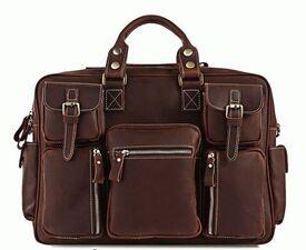 Деловой кожаный портфель 7028R-1 Buffalo Bags