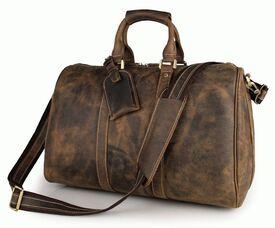 Дорожная кожаная сумка S.J.D. 7077B-1