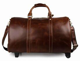 Дорожная кожаная сумка S.J.D. 7077LB