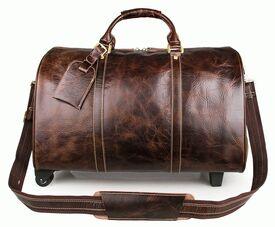 Дорожная кожаная сумка S.J.D. 7077LQ