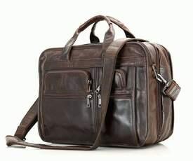 """Универсальная кожаная сумка для ноутбука 15.6"""" id"""