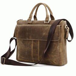 """Кожаная сумка для ноутбука 14,1"""" 7113B"""