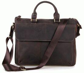 Кожаный винтажный портфель Laptop Dark Buffalo Bags