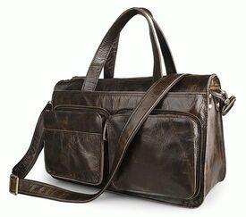 Дорожный кожаный портфель S.J.D. 7138Q